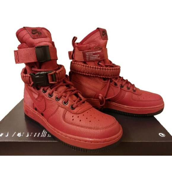 new products ec892 daa74 Air Force 1 AF1 Special Field Cedar Red   Black Hi